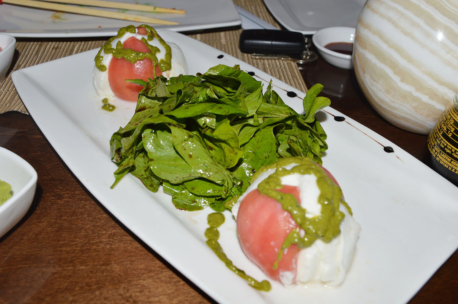 Baby Spinach with Fresh Buffalo Mozzarella - Photo Credit: thespotist.com