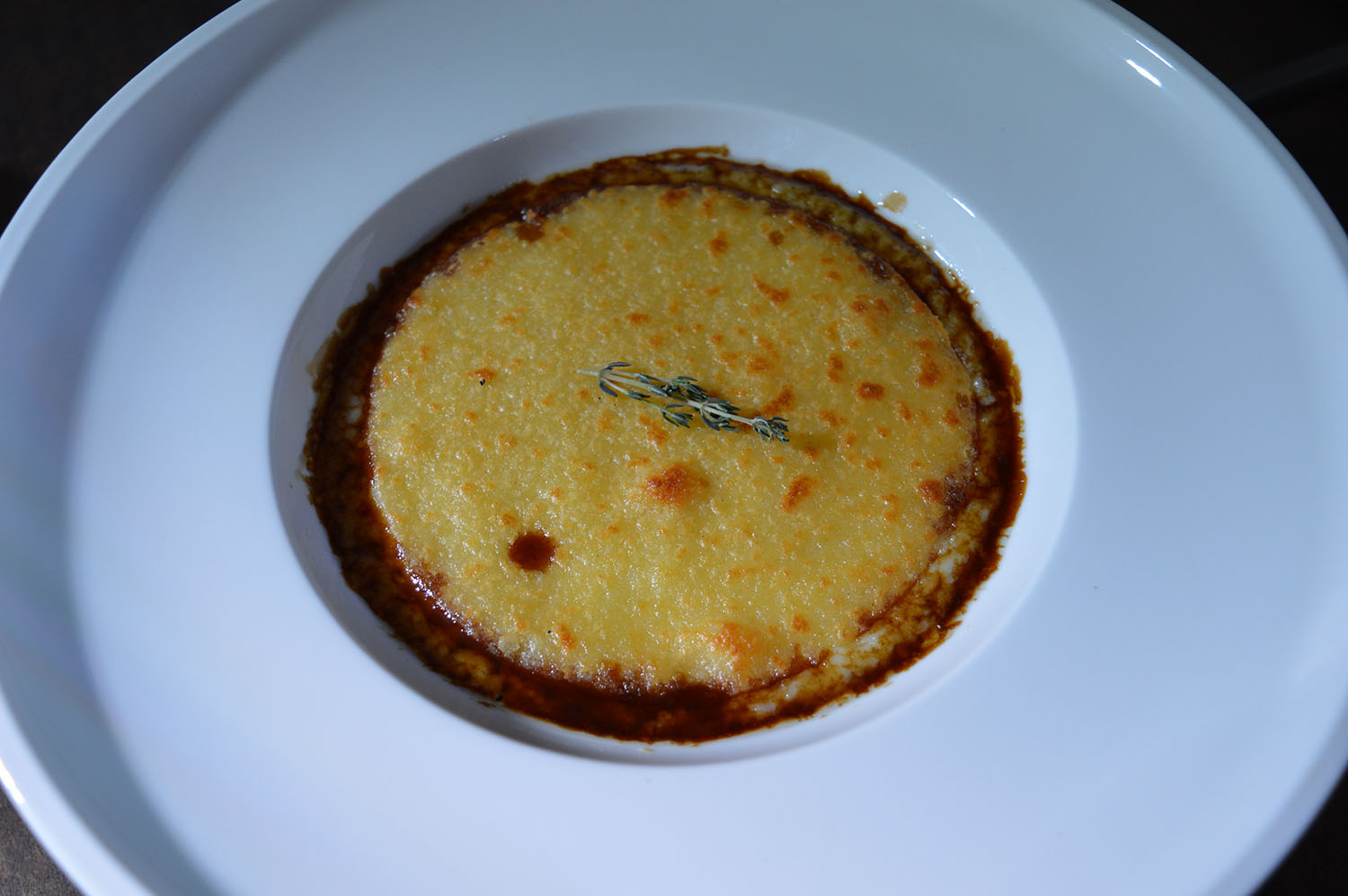 Duck Parmentier, Emmental, Porto Wine Sauce - Photo Credit: thespotist.com