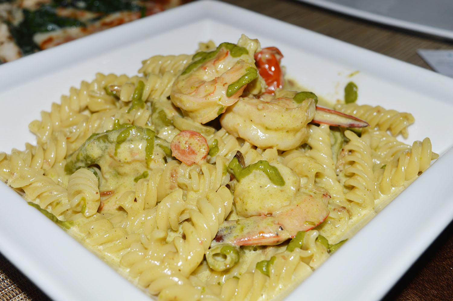 Fusili Shrimp Pesto - Photo Credit: thespotist.com