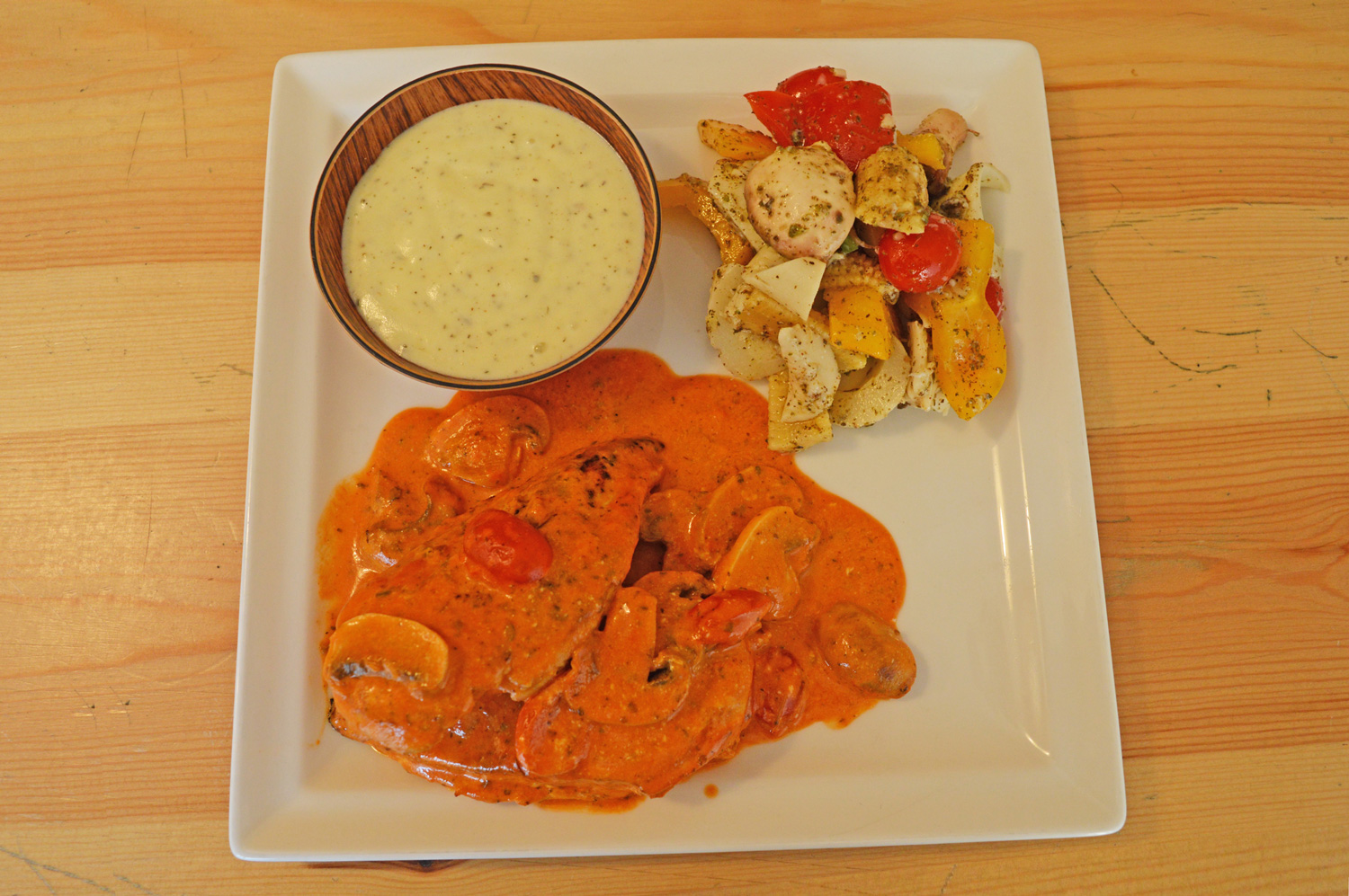 Chicken with Mushroom Sauce @ The NutriBox - Photo Credit: thespotist.com